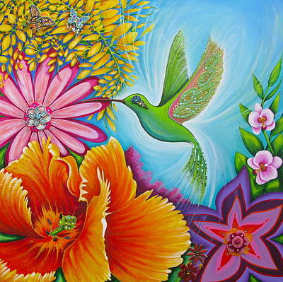 Humming Bird Poster by Claire Johnson