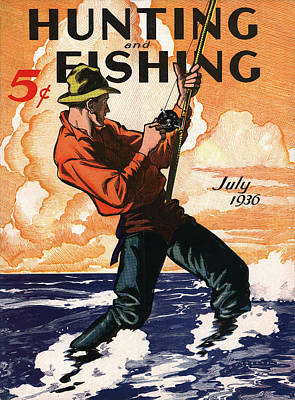 Hunting And Fishing Poster by Gary Grayson