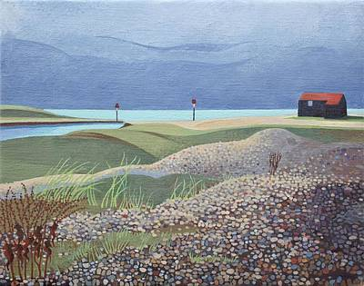 Hut, Rye Harbour  Poster by Anna Teasdale
