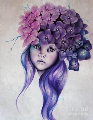 Hydrangea Poster by Sheena Pike
