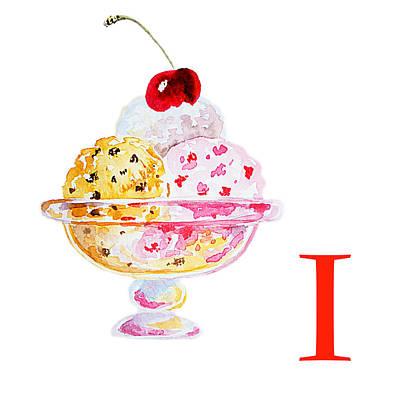 I Art Alphabet For Kids Room Poster by Irina Sztukowski