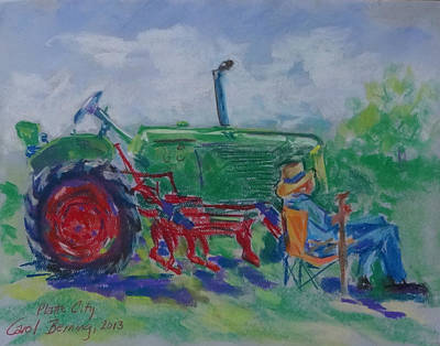 I Can Tell You Anything You Want To Know About This Tractor Poster by Carol Berning