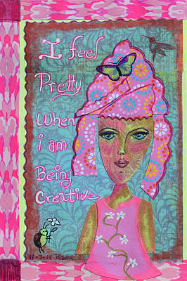 I Feel Pretty Poster by Donna Blackhall