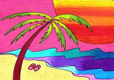 I Left My Flip Flops In Paradise Poster by Geree McDermott