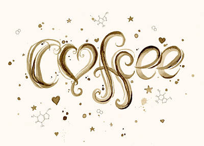 I Love Coffee Poster by Olga Shvartsur