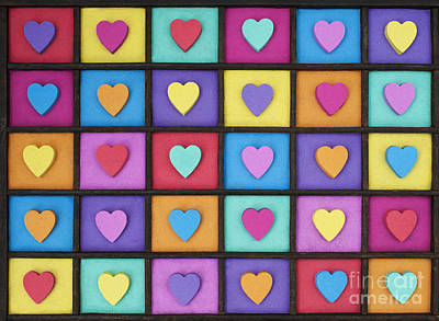 I Love Colour Poster by Tim Gainey
