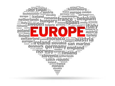 I Love Europe Poster by Aged Pixel