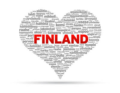 I Love Finland Poster by Aged Pixel