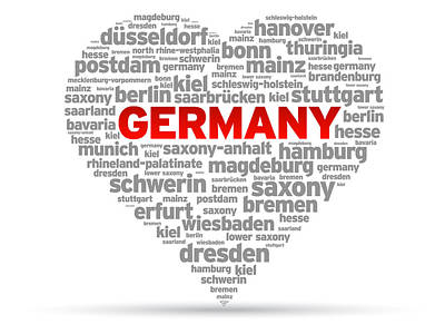 I Love Germany Poster by Aged Pixel