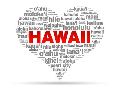 I Love Hawaii Poster by Aged Pixel