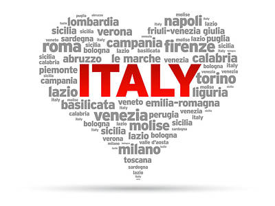 I Love Italy Poster by Aged Pixel