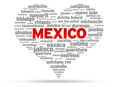 I Love Mexico Poster by Aged Pixel