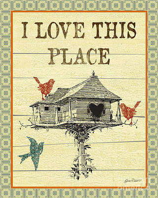 I Love This Place Poster by Jean Plout