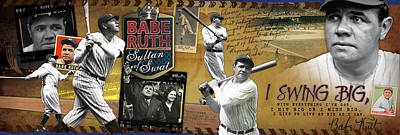 I Swing Big Babe Ruth Poster by Retro Images Archive
