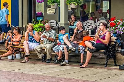 Ice Cream Eaters...an Observation Poster by Steve Harrington