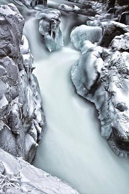Ice Creek Cascade Poster by Darren  White