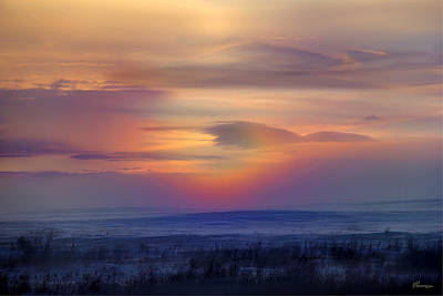 Ice Fog Sunrise Poster by Andrea Lawrence