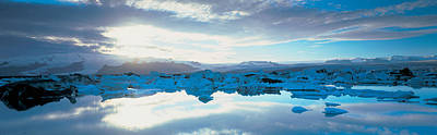 Icebergs In A Lake, Jokulsarlon Lagoon Poster by Panoramic Images