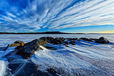 Icebound 7 Poster by Bill Caldwell -        ABeautifulSky Photography