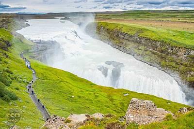 Gullfoss Waterfall Iceland Poster by Cliff C Morris Jr