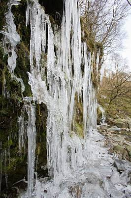 Icicles At Tilberthwaite Poster by Ashley Cooper