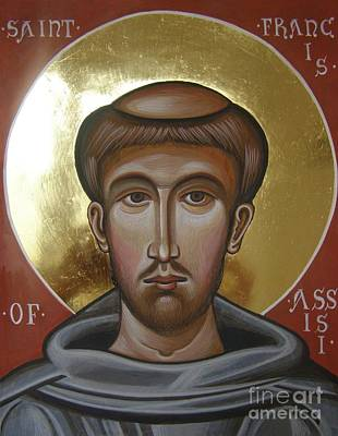 Icon Of St Francis Of Assisi Poster by Peter Murphy