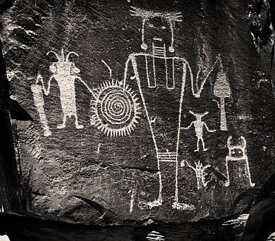 Iconic Petroglyphs From The Freemont Culture Poster by Melany Sarafis