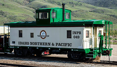 Idaho Northern And Pacific Railroad Caboose Poster by Gary Whitton