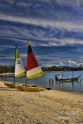 Idyllic Thai Beach Scene Poster by David Smith