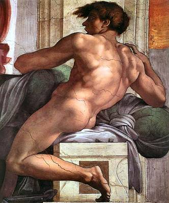 Ignudo Number One Of 1511 Poster by Michelangelo Buonarroti