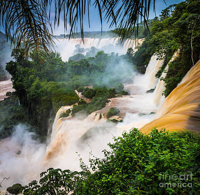 Iguazu Natural Wonder Poster by Inge Johnsson