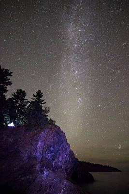 Illuminated Tent // North Shore, Lake Superior Poster by Nicholas Parker