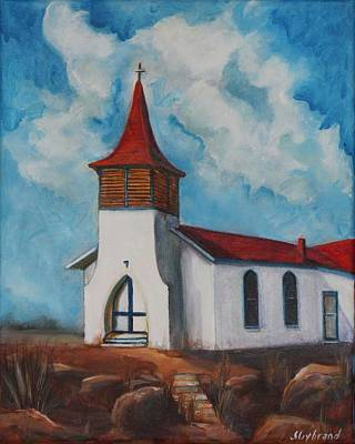 Immaculate Conception Catholic Church Of Cimarron New Mexico Poster by Judy Lybrand