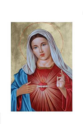 Immaculate Heart Of Mary Poster by Janeta Todorova