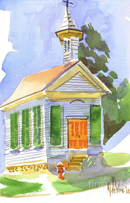 Immanuel Lutheran Church In May Sunshine Poster by Kip DeVore