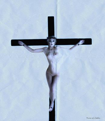 Immerse Crucifix Poster by Ramon Martinez