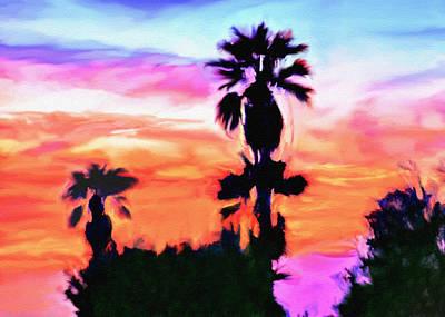 Impression Desert Sunset V2 Poster by Bob and Nadine Johnston