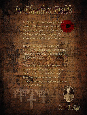 In Flanders Fields 2 Poster by Andrew Fare