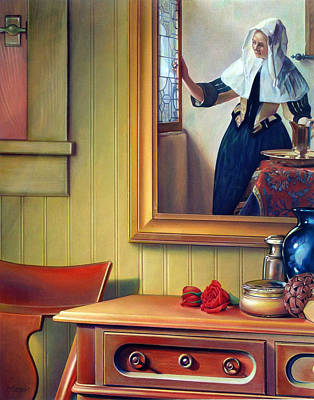 In The Boudoir With Vermeer Poster by Patrick Anthony Pierson