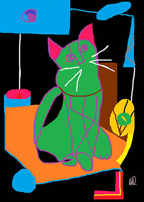 In The Kitchen At Night Poster by Anita Dale Livaditis