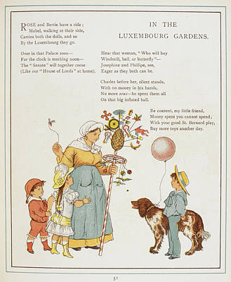 In The Luxembourg Gardens Poster by British Library