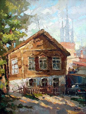 In The Old Courtyard Poster by Dmitry Spiros
