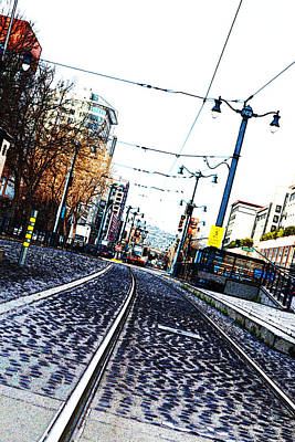 In The Path Of A Cable Car Poster by Holly Blunkall