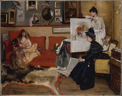 In The Studio Poster by Alfred Stevens