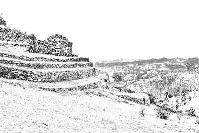 Inca Ruins On Cojitambo In Ecuador Poster by Al Bourassa