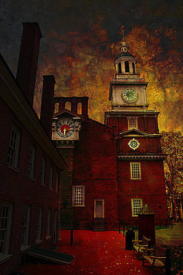 Independence Hall Philadelphia Let Freedom Ring Poster by Jeff Burgess