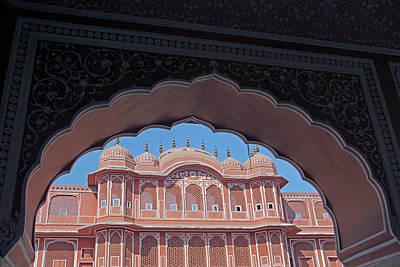 India, Jaipur Chandra Mahal At Jaipur Poster by Kymri Wilt