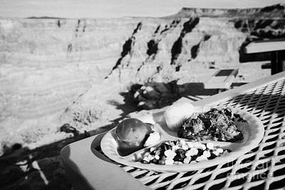 indian buffet food at guano point on the edge of the grand canyon home of the hualapai nation Arizon Poster by Joe Fox