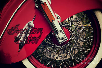 Indian Chief Spoked Wheel Poster by Tim Gainey