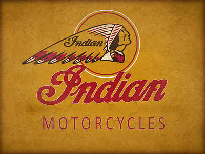 Indian Motorcycles Poster by Mark Rogan
